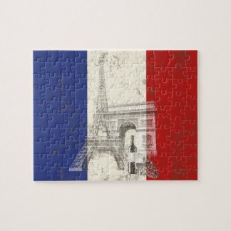 Flag and Symbols of France ID156 Jigsaw Puzzle