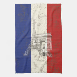 Flag and Symbols of France ID156 Kitchen Towel