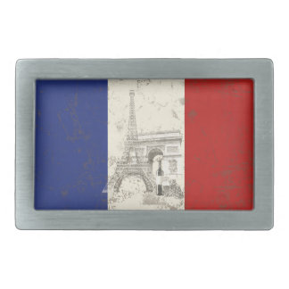 Flag and Symbols of France ID156 Rectangular Belt Buckles