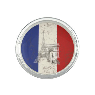 Flag and Symbols of France ID156 Ring