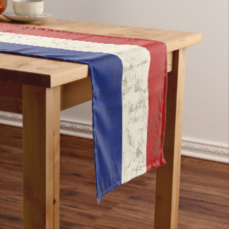 Flag and Symbols of France ID156 Short Table Runner