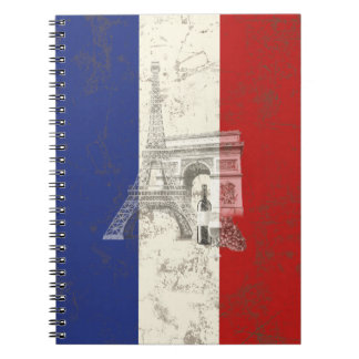Flag and Symbols of France ID156 Spiral Notebook