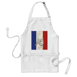Flag and Symbols of France ID156 Standard Apron
