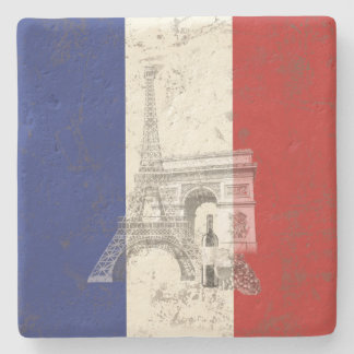 Flag and Symbols of France ID156 Stone Coaster