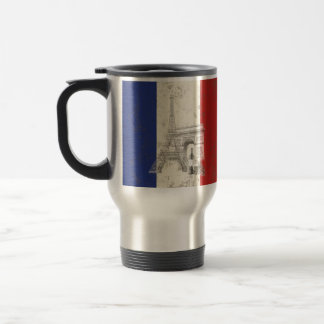 Flag and Symbols of France ID156 Travel Mug
