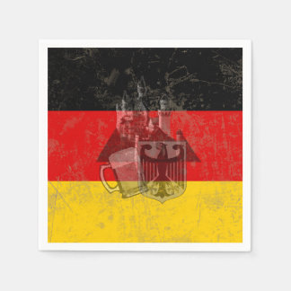Flag and Symbols of Germany ID152 Paper Napkin