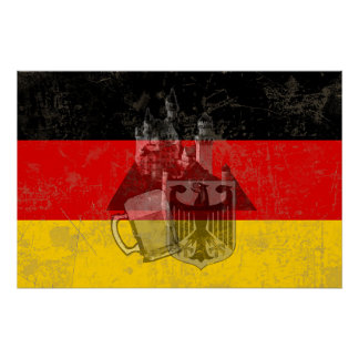 Flag and Symbols of Germany ID152 Poster