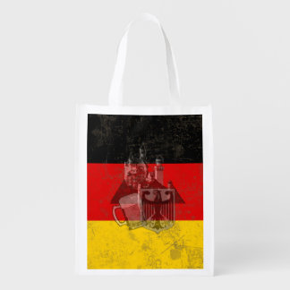 Flag and Symbols of Germany ID152 Reusable Grocery Bag