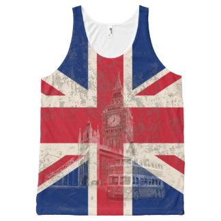 Flag and Symbols of Great Britain ID154 All-Over-Print Tank Top