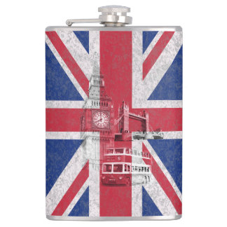 Flag and Symbols of Great Britain ID154 Flasks