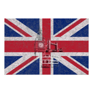 Flag and Symbols of Great Britain ID154 Perfect Poster