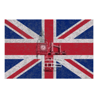 Flag and Symbols of Great Britain ID154 Poster