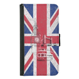 Flag and Symbols of Great Britain ID154 Samsung Galaxy S5 Wallet Case