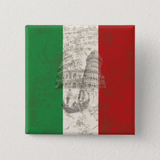 Flag and Symbols of Italy ID157 2 Inch Square Button