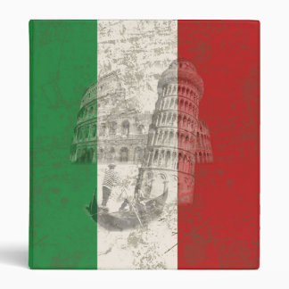 Flag and Symbols of Italy ID157 3 Ring Binders