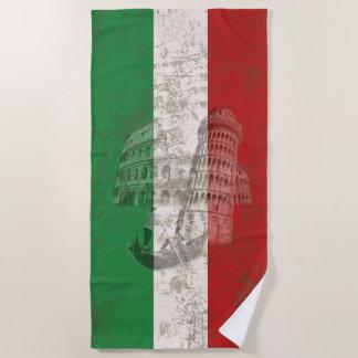Flag and Symbols of Italy ID157 Beach Towel
