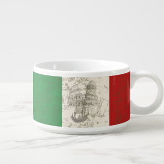Flag and Symbols of Italy ID157 Bowl