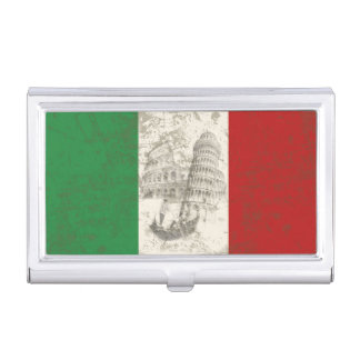 Flag and Symbols of Italy ID157 Business Card Holder
