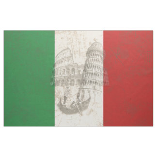 Flag and Symbols of Italy ID157 Fabric