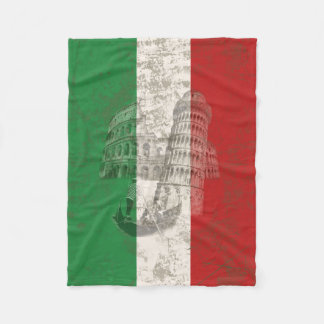 Flag and Symbols of Italy ID157 Fleece Blanket