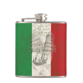 Flag and Symbols of Italy ID157 Hip Flask