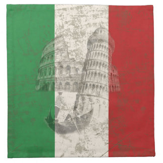 Flag and Symbols of Italy ID157 Napkin