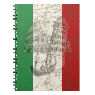 Flag and Symbols of Italy ID157 Notebook