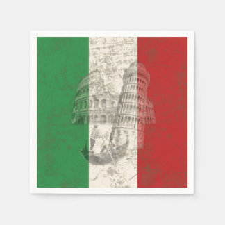 Flag and Symbols of Italy ID157 Paper Napkin