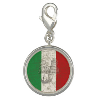 Flag and Symbols of Italy ID157 Photo Charms