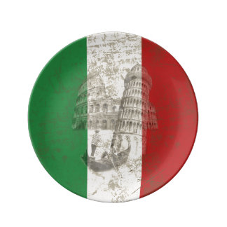 Flag and Symbols of Italy ID157 Plate