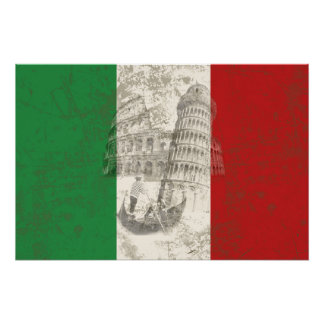 Flag and Symbols of Italy ID157 Poster