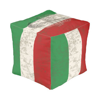 Flag and Symbols of Italy ID157 Pouf