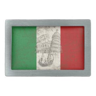 Flag and Symbols of Italy ID157 Rectangular Belt Buckle