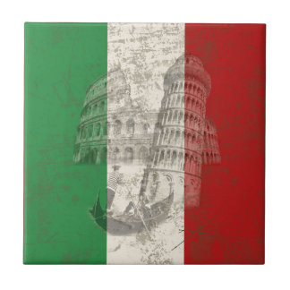 Flag and Symbols of Italy ID157 Tile
