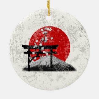 Flag and Symbols of Japan ID153 Ceramic Ornament