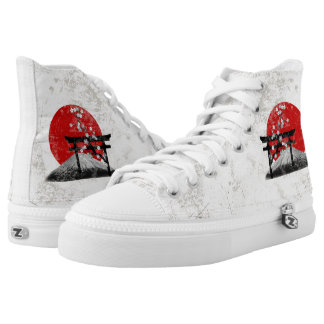 Flag and Symbols of Japan ID153 High Tops