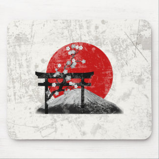 Flag and Symbols of Japan ID153 Mouse Pad