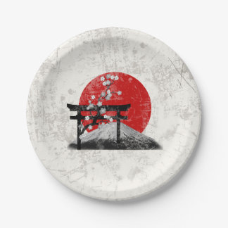 Flag and Symbols of Japan ID153 Paper Plate