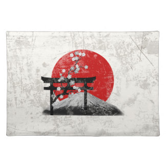 Flag and Symbols of Japan ID153 Placemat