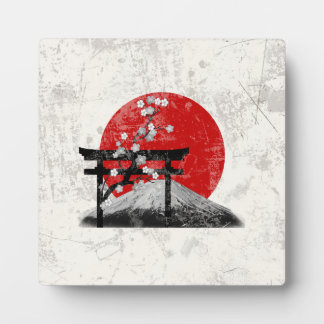 Flag and Symbols of Japan ID153 Plaque