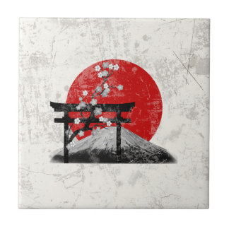 Flag and Symbols of Japan ID153 Tile