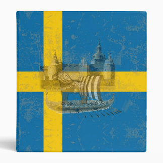 Flag and Symbols of Sweden ID159 3 Ring Binders
