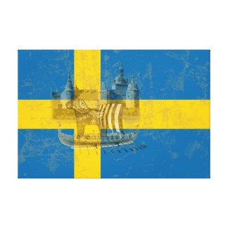 Flag and Symbols of Sweden ID159 Canvas Print