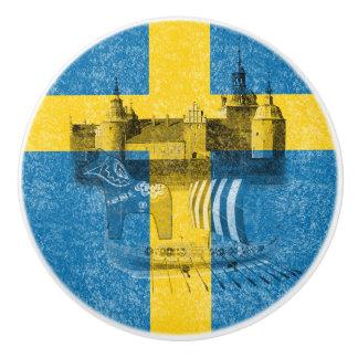 Flag and Symbols of Sweden ID159 Ceramic Knob