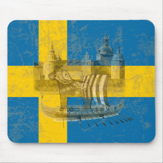 Flag and Symbols of Sweden ID159 Mouse Pad