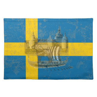 Flag and Symbols of Sweden ID159 Placemat