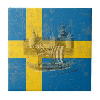 Flag and Symbols of Sweden ID159 Tile