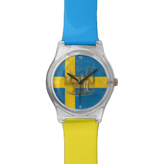 Flag and Symbols of Sweden ID159 Watch