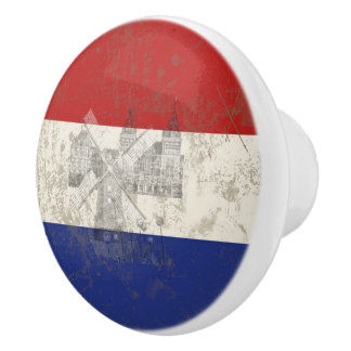Flag and Symbols of the Netherlands ID151 Ceramic Knob