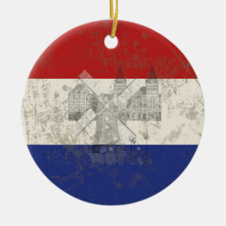 Flag and Symbols of the Netherlands ID151 Ceramic Ornament